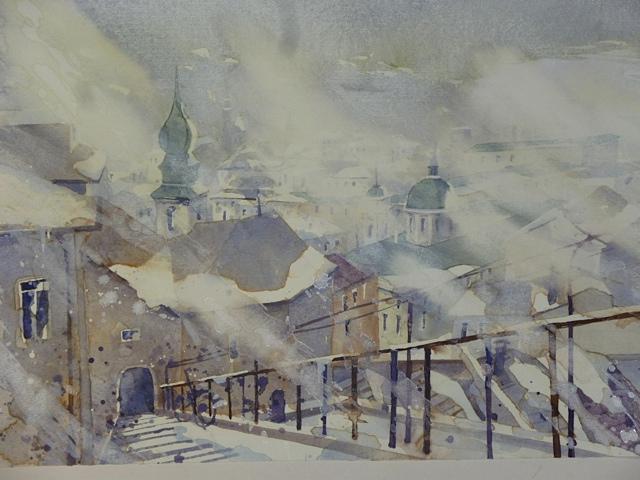Salzburg Imbergstiege Schneesturm